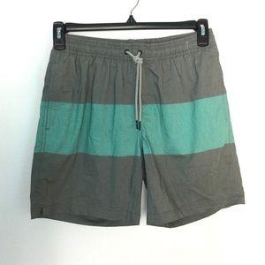Maamgic S Swim Shorts Board Trunks Gray Green NWOT
